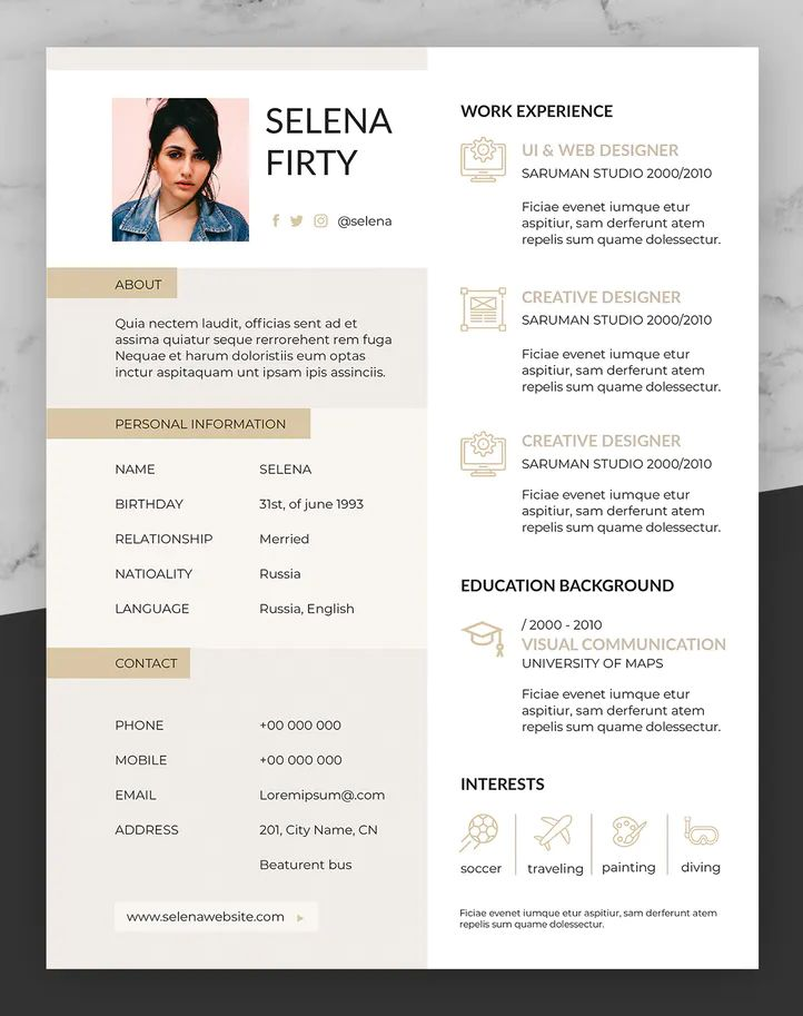 Creative Resume Template Ai Eps Indd Psd Ms Word Creative Resume Creative Resume Templates Resume Template