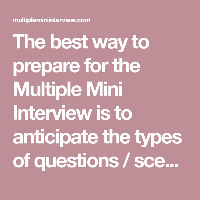 multiple mini interview questions book pdf