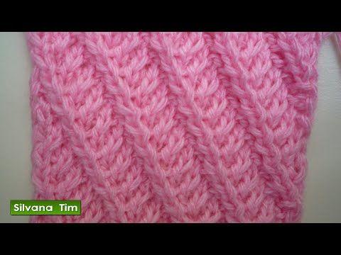 Silvana Tim - Tejido con dos Agujas, Crochet, Recetas de Cocina: Tutorial de tejido con dos agujas # 223. Punto (puntada) LINEAS en DIAGONAL.