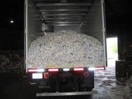 Large Volume shredding For those whom has a gaylord size to shredd weekly or montly. As samll as one Gaylord box up to a semi truck load of papers will be picked up and shredded.http://shamrockrec.com