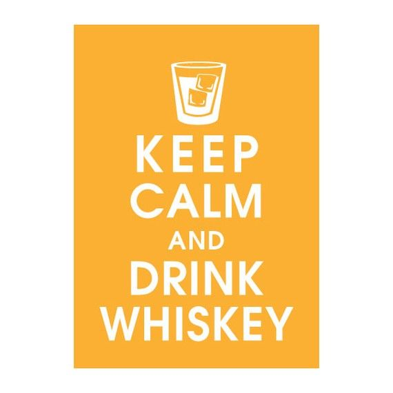 Playful words: Keep Calm and Drink Wiskey