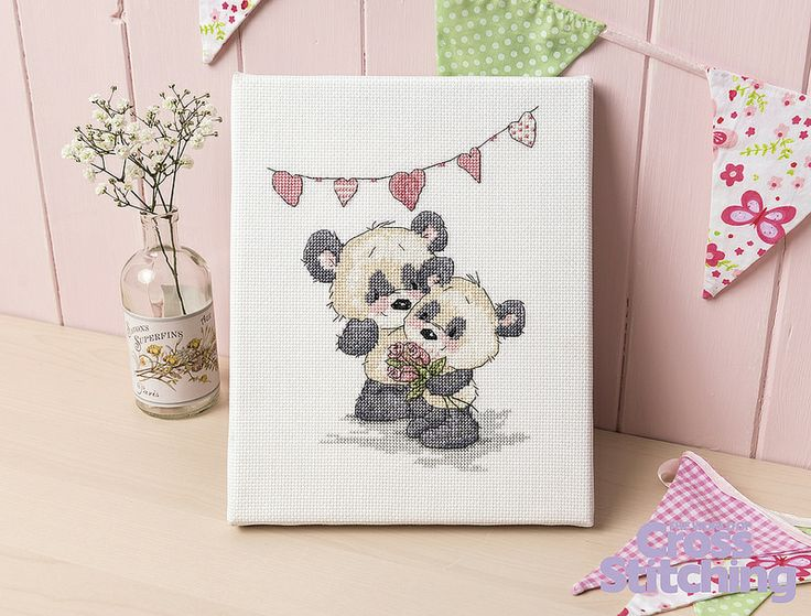 Panda Pair  The World of Cross Stitching  Issue 217 July 2014  Hardcopy in Folder
