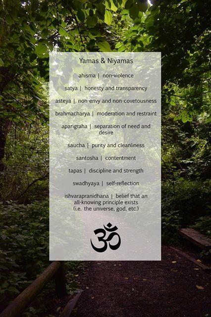 The Yamas and the Niyamas of Yoga #yamas #niyamas #yoga
