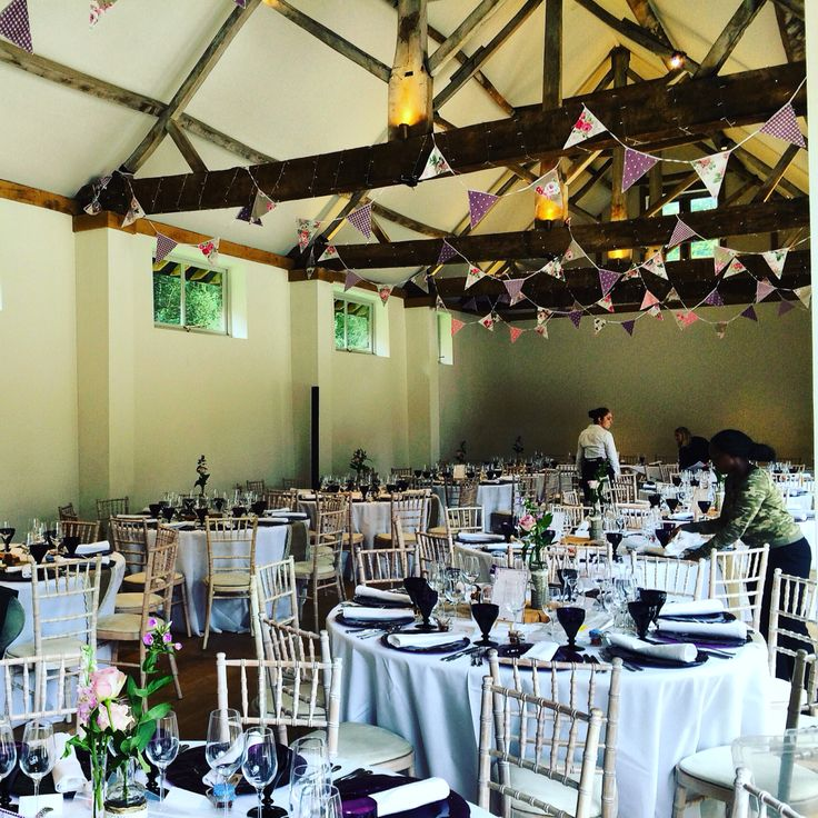 Fairy lighting wrapped beams at Dorney Court. Coach House Barn  http://www.lexmarqueehire.co.uk/dorney-court-wedding
