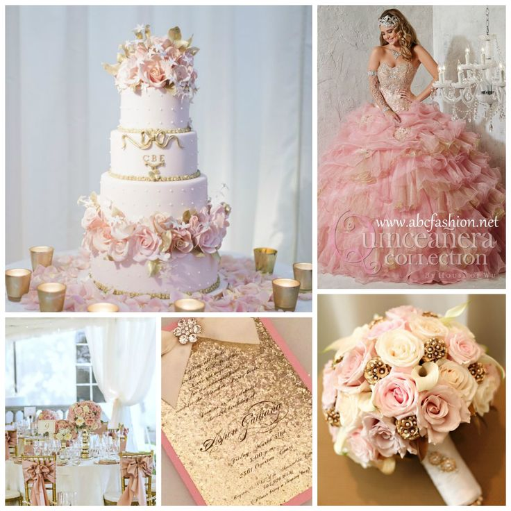 Gold adds a royalty touch compared to gray, which is perfect if you envision yourself looking like a princess. Metallic and sparkly gold are a must in your decor and outfit! - See more at: http://www.quinceanera.com/decorations-themes/unexpected-pink-color-combinations-that-look-amazing/?utm_source=pinterest&utm_medium=social&utm_campaign=article-021416-decorations-themes-unexpected-pink-color-combinations-that-look-amazing#sthash.wD5brziY.dpuf
