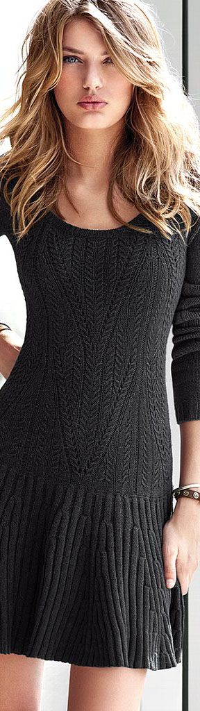 #street #fashion black sweater dress @wachabuy