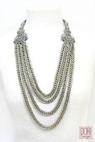 50% off Xena silver multi strand necklace by Dori Csengeri