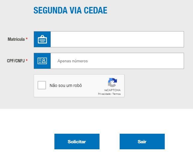 Cedae 2 Via Painel De Acesso A Segunda Via Cedae Contas De