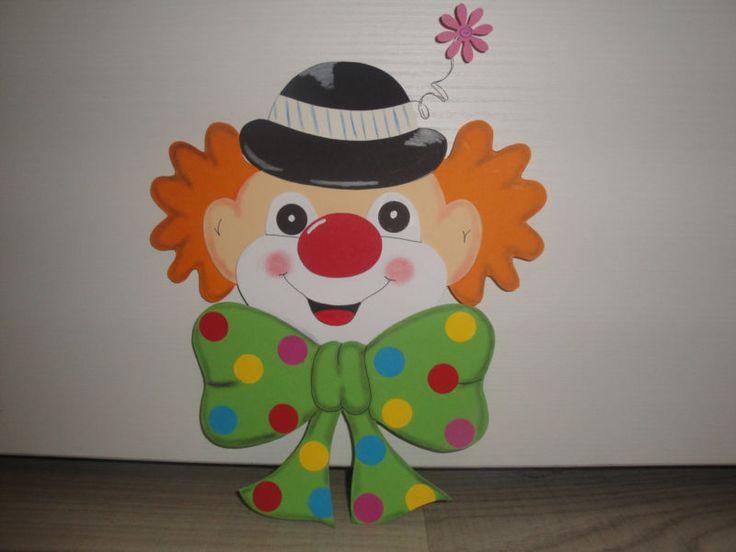 Tonkarton Fensterbild  ~ Clown Kopf ~ Karneval Fasching