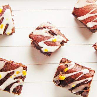 sticky gingerbread cake with st clement's drizzle