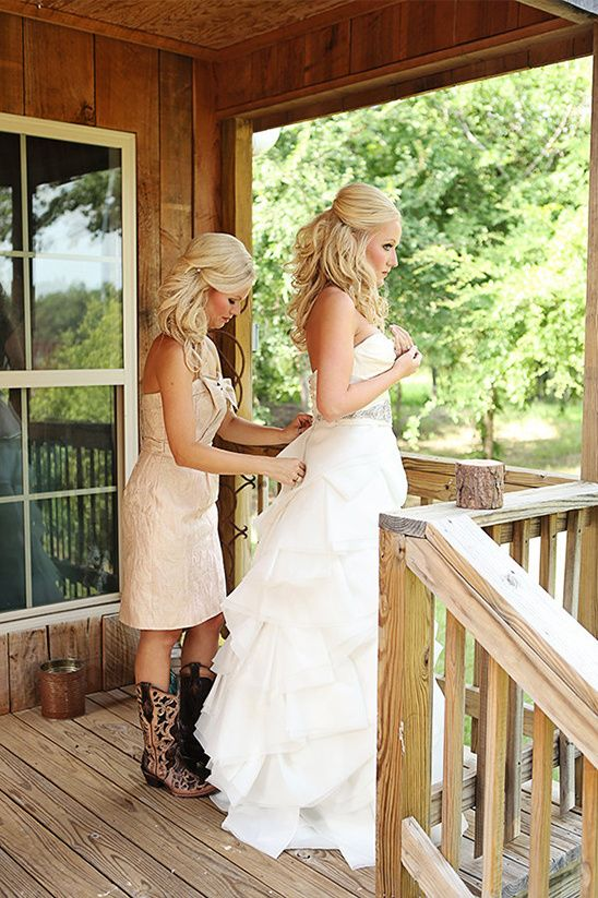 chic vintage ranch wedding country
