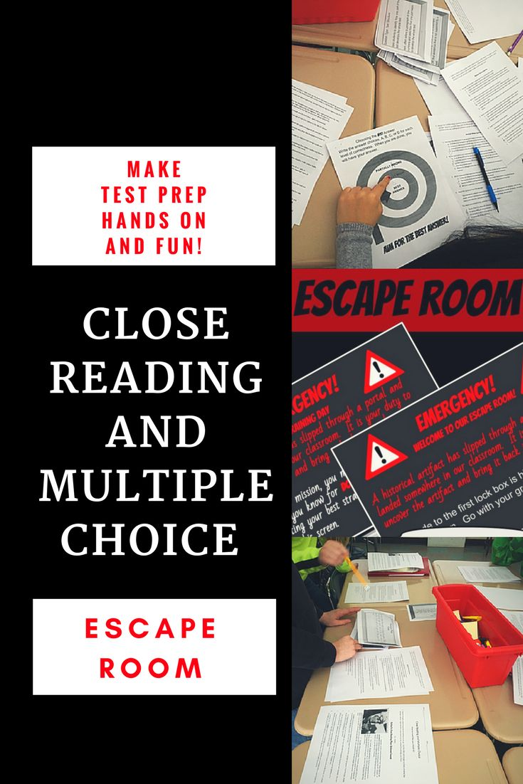 Get kids out of their seats and practicing important ELA skills that will help to make them stronger close readers and multiple choice strategists. This escape room helps students to recognize the power of close reading an article and using their knowledge to answer multiple choice questions. The escape room is designed to help students practice and internalize some of the best multiple choice strategies as well. For more on your feet test prep activities and ideas check out www.readitwrit