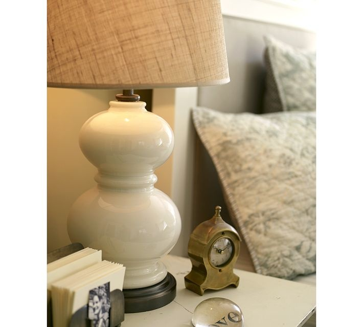white lamp for nightstand bedroom pinterest. Black Bedroom Furniture Sets. Home Design Ideas