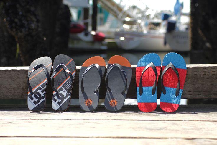 Summer Flip Flops & Footwear from @dcshoes @volcom & @sanukfootwear - Summer Lookbook: http://www.premiumlabel.ca/outlet/style-guide/summer-style-guide-2015