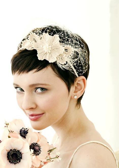 A Bride S Options For Short Wedding Hairstyle Wedding Pinterest Kurzhaarfrisuren