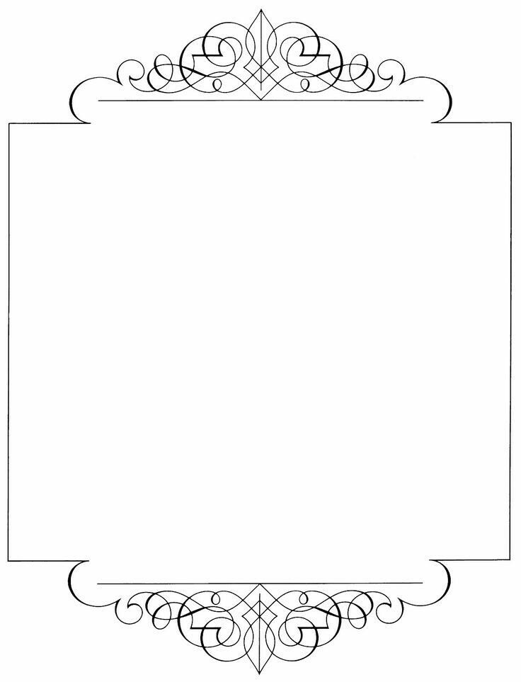 Pin De Belma Prses Em Beautiful Papier Design Molduras De Quadros Bordas Vintage Moldura Preto E Branco
