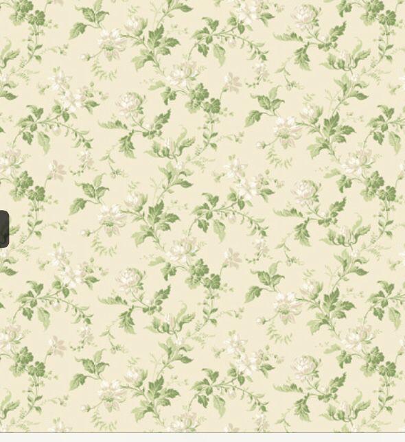 Borås tapet grön blommig