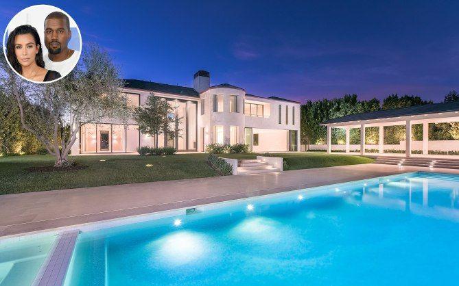 Kim Kardashian Kanye West S Bel Air House New Photos Mansions Kim Kardashian Bel Air House