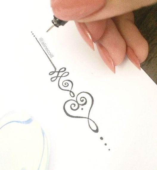 Meaningful Tattoos Ideas – Unalome Tattoo Love