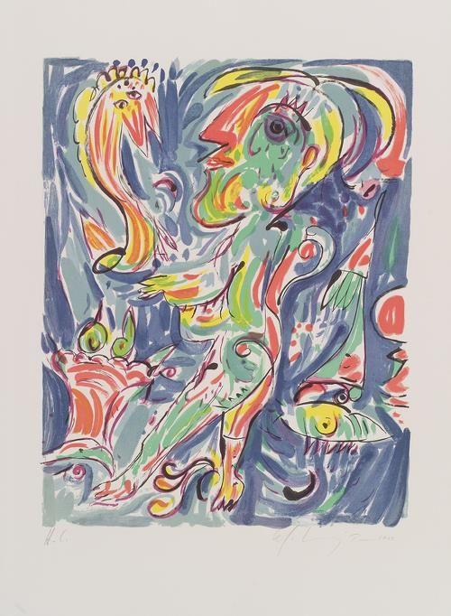 Carl-Henning Pedersen Lithography.