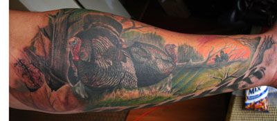 Tattoos - Christopher Allen - Turkey hunting