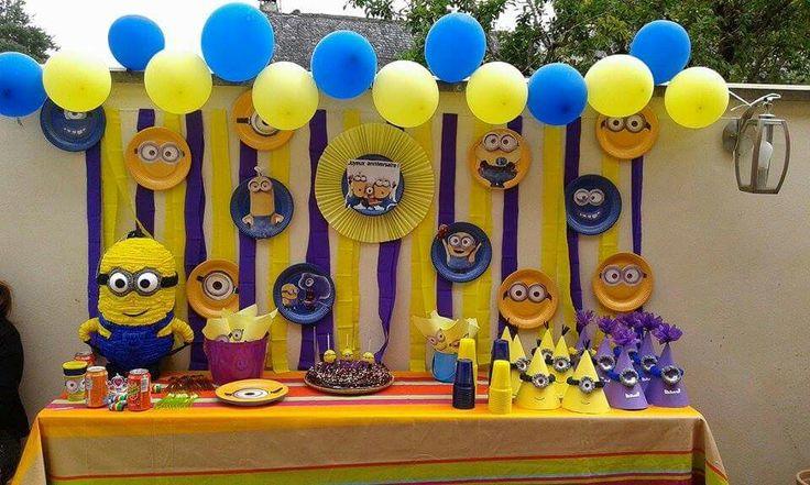 Decoracion de fiesta de Minions