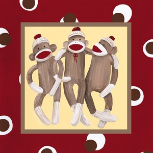 I think we need all three prints for baby's sock monkey room!!