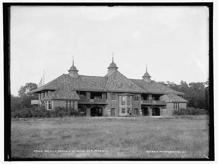 Bicycle Pavilion on Belle Isle [Park], Detroit; c. 1900-1906