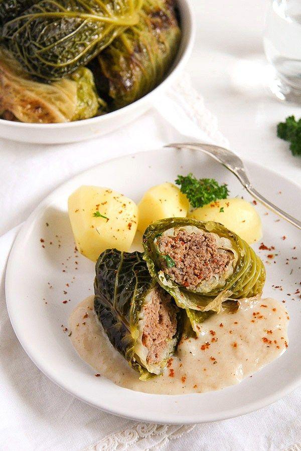 Stuffed Savoy Cabbage German Recipe Recipe Cabbage Rolls Minced Meat Recipe Savoy Cabbage