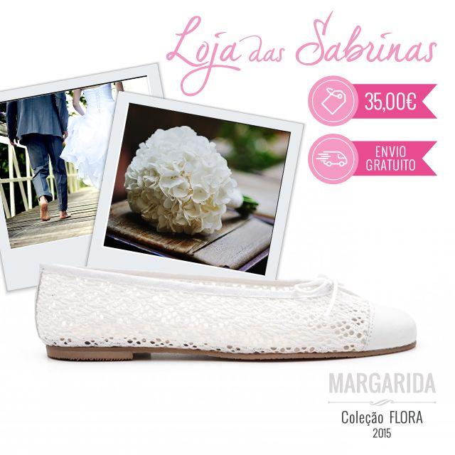 Com um tom clássico e delicado, as nossas Sabrinas Margarida estão sempre prontas para celebrar os momentos especiais da sua vida.  http://www.lojadassabrinas.com/product/margarida