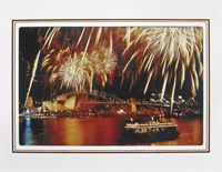"""Photo enlargement of Sydney Harbour Fireworks, measuring 8"""" x 6"""" in a soft frame. You can buy this photo enlargement for $15.95 delivered. www.theshortcollection.com.au/page/photo-enlargement-small"""