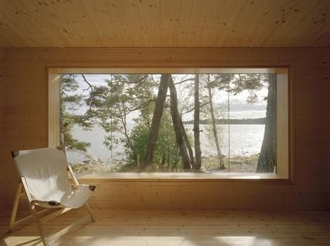 Big window with seat