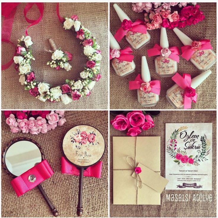 Fuşya düğün teması / hot pink wedding theme www.masalsiatolye.com
