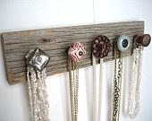 vintage knobs mounted on distressed wood