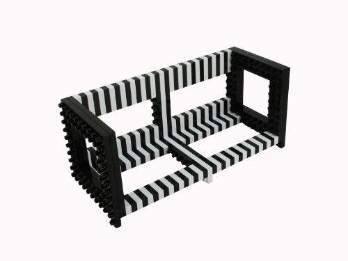 Do-It-Yourself DIY Building Block DVD/Book Rack Shelf in Black #Kids #Furniture #Christmas #Wishlist #Gift #Cabinets #Shelves