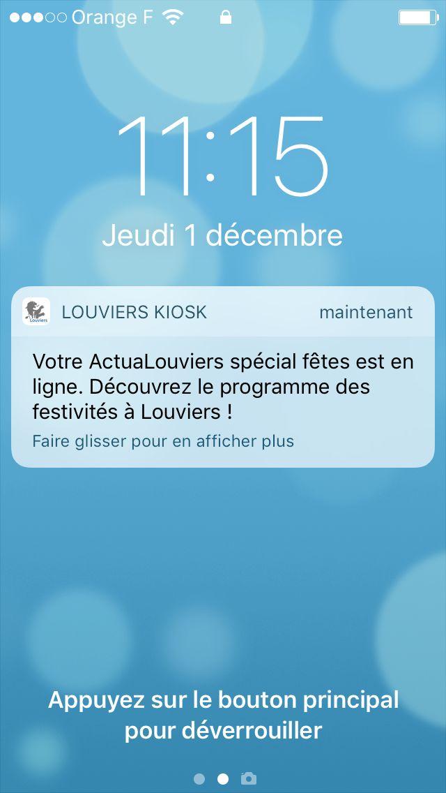 Votre ActuaLouviers sur l'appli LOUVIERS pour smartphone et tablette !