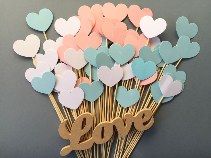A personal favourite from my Etsy shop https://www.etsy.com/au/listing/257137193/100-hearts-on-a-stick-boy-or-girl