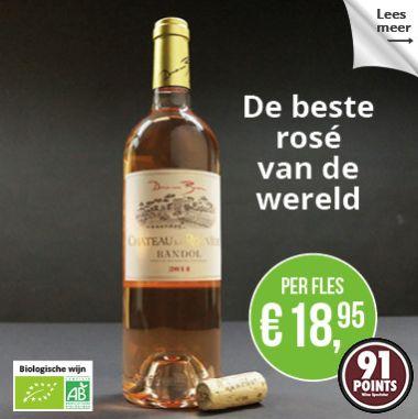 Domaine Bunan Chateau la Rouviere AOC Bandol 2014  Karaktervolle rose met intense florale tonen. Hele boeketten met mediterane bloemen en rijpe citrusvruchten komen je subtiel tegemoet.Voor een rose een herkenbare volroze kleur, maar maakt echt het verschil met de geur en de afdronk . Een echte champ. Eigen. Kwaliteit komt je tegemoet. Koop nu op: www.wineshop.nl/product/domaine-bunan-chateau-la-rouviere/
