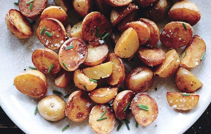 Crispy Salt-and-Vinegar Potatoes Recipe - Bon Appétit, May 2014 issue.
