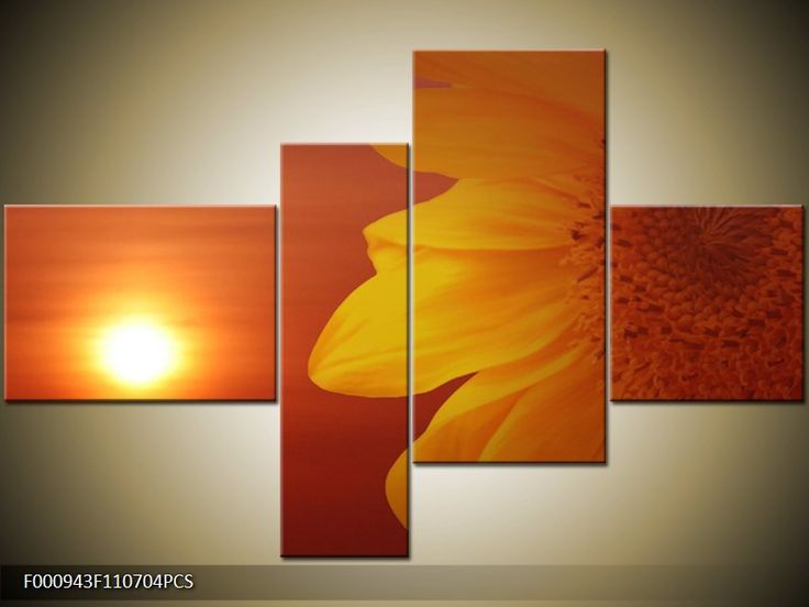 Květiny | Čtyřdílný 110 x 70 cm | Vícedílné obrazy čtyřdílný | Moderní vícedílné obrazy na zeď do bytu - Úžasné obrazy
