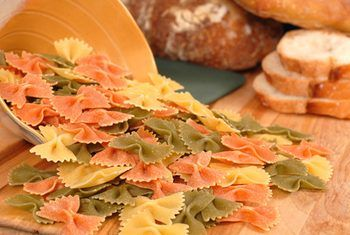 farfalle pasta with bread image by David Smith from Fotolia.com