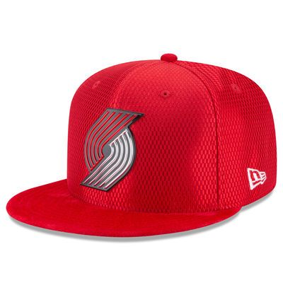 Men's Portland Trail Blazers New Era Red NBA On-Court Original Fit 9FIFTY Adjustable Hat