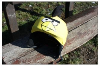 Yellow bird helmet cover