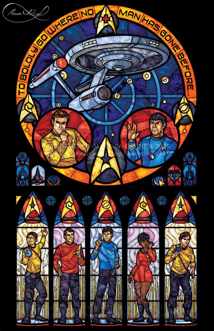 Full Size Star Trek Original Serie Glasmalerei von 0ShardsofColor0