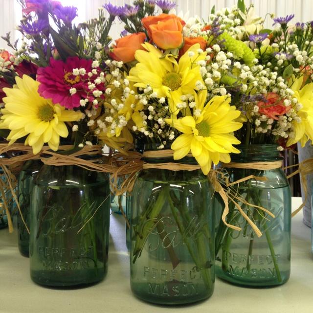 Flowers In Jars Wedding: 17 Best Images About Cool Flower Arrangements On Pinterest