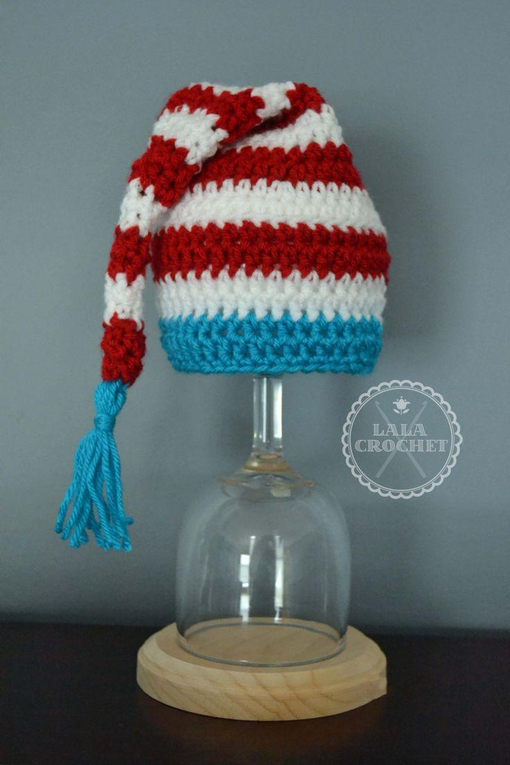 Dr Seuss Crochet Short Tail Tassel Hat, Dr Seuss Baby, Dr Seuss Birthday Hat by LalaCrochet1 on Etsy