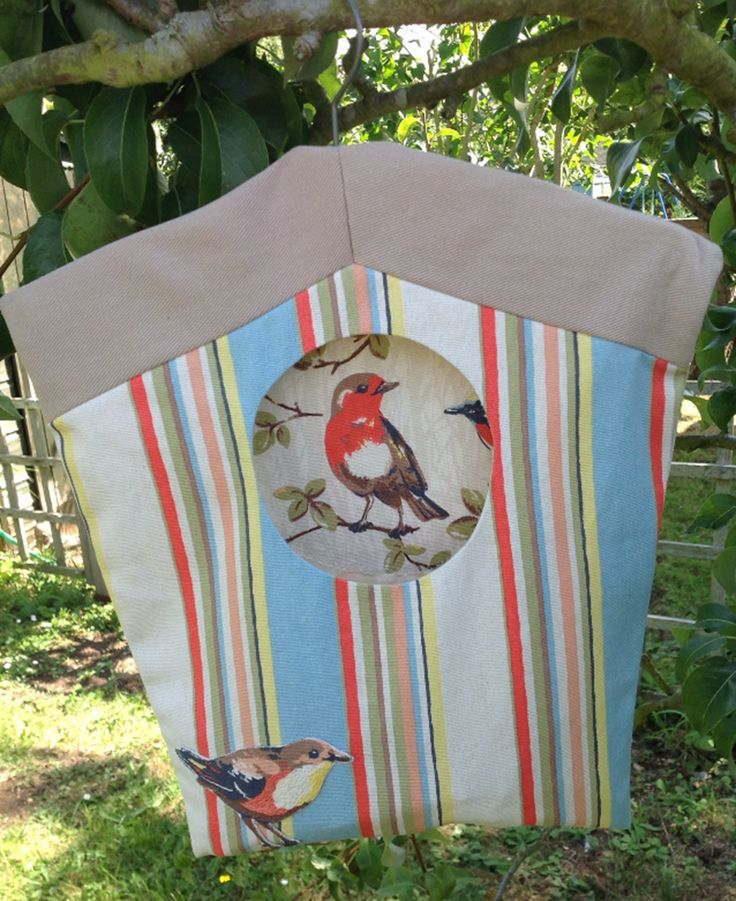 Two Cath Kidston prints for a hand-made clothespin bag. #textile #fabric