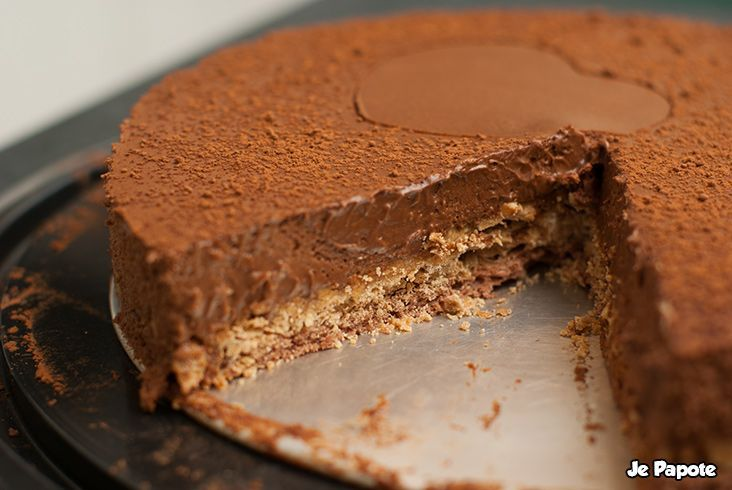 Trianon, gateau croquant au chocolat #food #chocolate #cake: