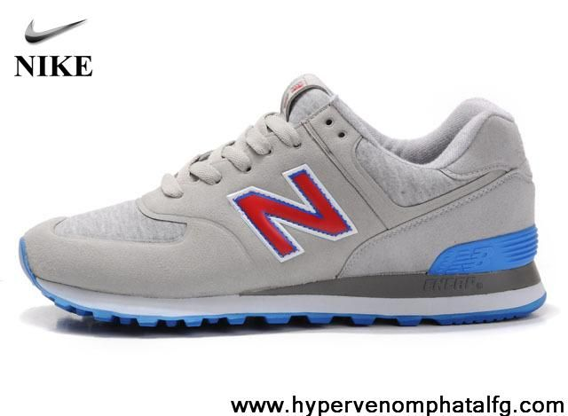 Latest Listing Discount New Balance NB MS574UD Sonic Grey Red Blue For Men  shoes Latest Now