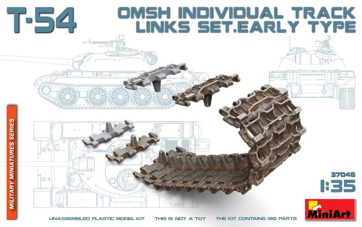 New #MiniArt's Kit In Progress:  37046 T-54 OMSh Individual Track Links Set. Early Type http://miniart-models.com/37046/